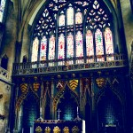 Altar with Stained Glass, Bristol Cathedral - BasicallyRed.com