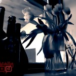 Bottles and Flowers, Taken in the Three Tuns Pub, Bristol, England - BasicallyRed.com