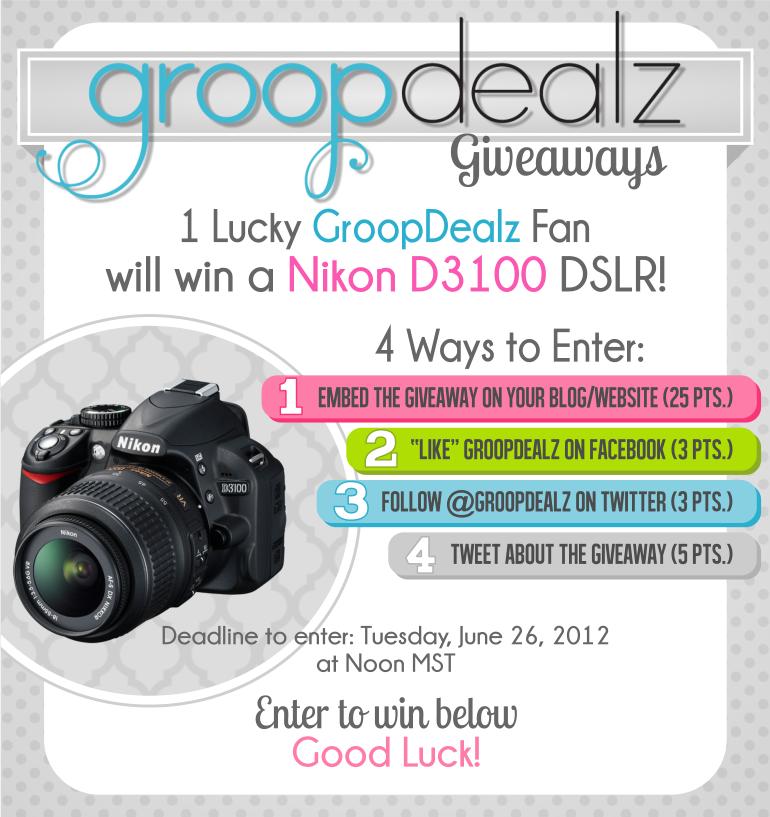 GroopDealz Nikon D3100 Giveaway!