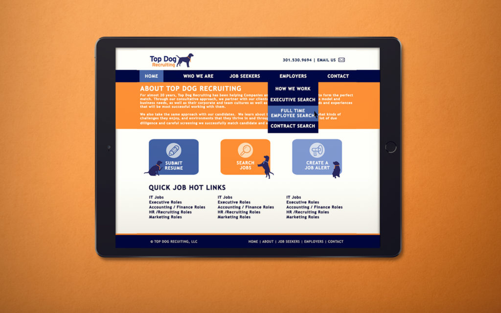 Top Dog Recruiting Website Design by BasicallyRed