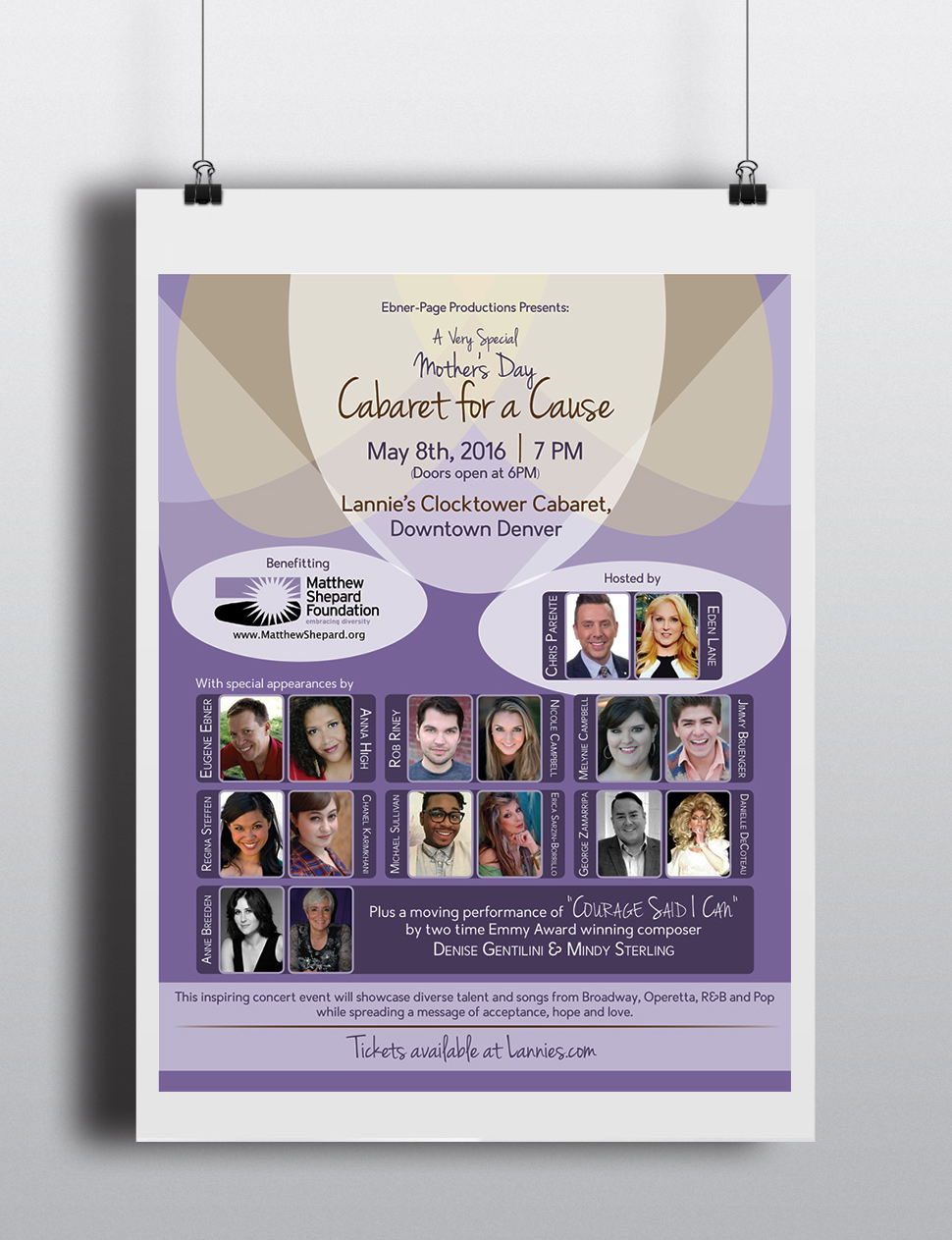 Event Poster & Sponsor Sheet: Cabaret for a Cause