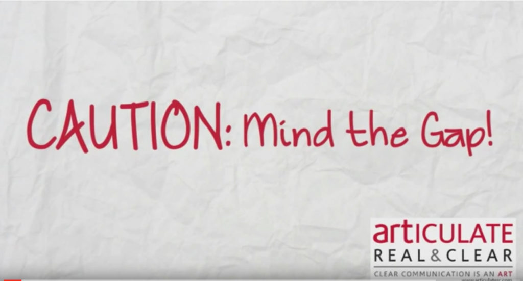 Mind the Gap Video for ARTiculate: Real&Clear by BasicallyRed