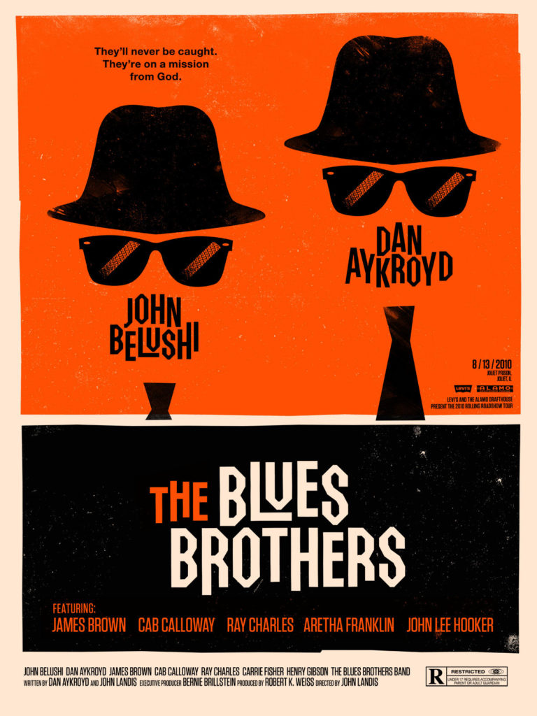 Blues Brothers Movie Poster - my inspiration for this project