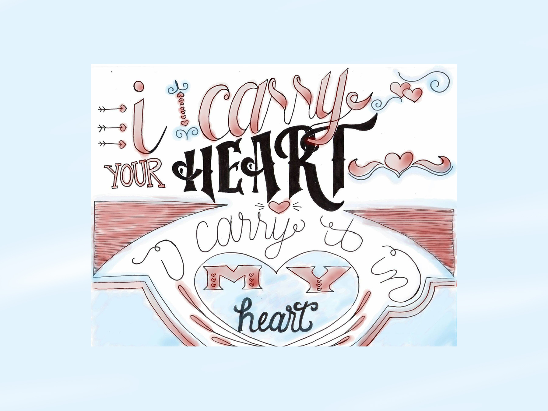 I Carry | Hand Lettering