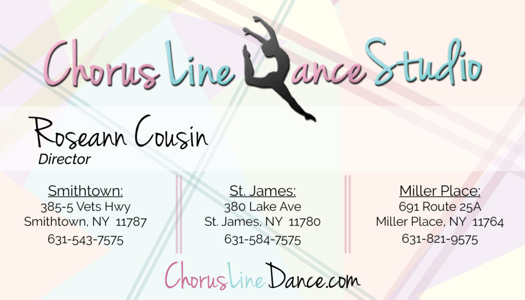Chorus Line Dance Studio Business Card designed by BasicallyRed
