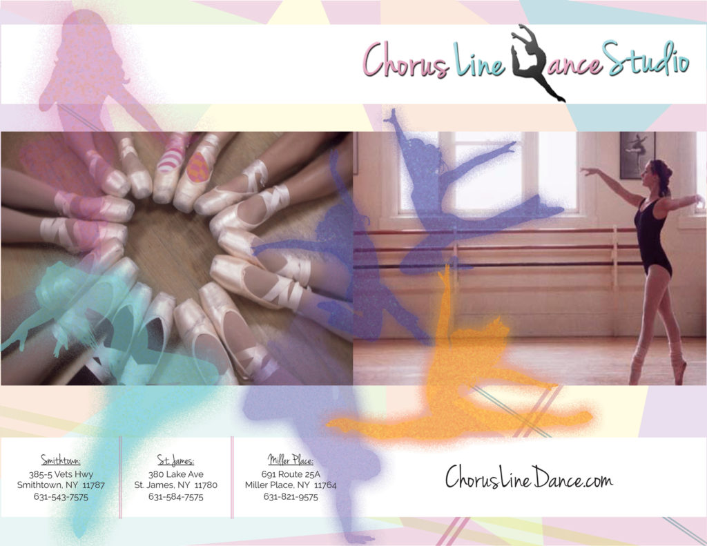 Chorus Line Dance Studio Brochure Cover, designed by BasicallyRed