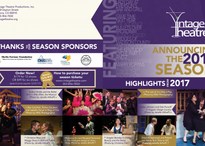 2018 Season Brochure for Vintage Theater